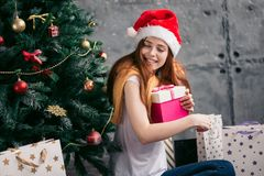 Bright life.young woman is full of positivity. Girl embracing the joys royalty free stock photo