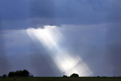 Bright Light. Stormy Afternoon in Oklahoma stock photos