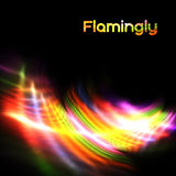 Bright light. Abstract bright colorful glow on a black background Royalty Free Stock Image