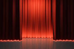 Bright light behind red scenes Royalty Free Stock Photography