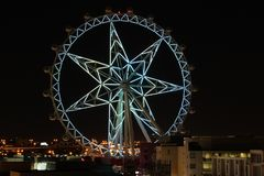 Bright light blue Melbourne Star Stock Images