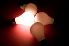 Bright Light Bulb Royalty Free Stock Photo