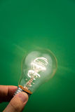 Bright Light Bulb. Close up shot Royalty Free Stock Photo