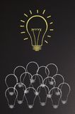 Bright light bulb Stock Photo