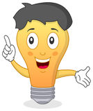 Bright Light Bulb Character royalty free illustration