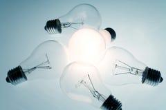 Bright Light Bulb royalty free stock photography