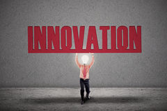 Bright light bulb innovation Stock Photos