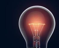 Bright Light Bulb isolated on black Royalty Free Stock Photo