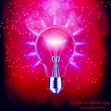 Light bulb isolated. Vector illustration. Royalty Free Stock Photography