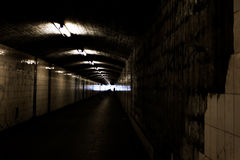 Bright Light at End of Dark Tunnel Tile. Bright Light at End of Dark Tunnel royalty free stock photography
