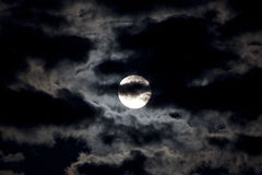 Bright light of the moon Stock Images