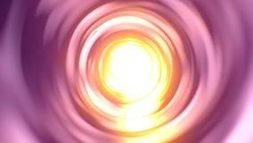 Bright light warp tunnel stock footage