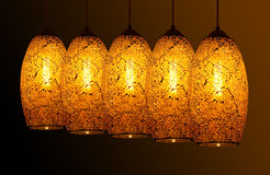 Bright light yellow lamp. Bright light five yellow lamp Royalty Free Stock Images