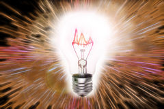 Bright Lightbulb Royalty Free Stock Photo