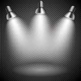 Bright with Lighting Spotlights Lamp Stock Photo
