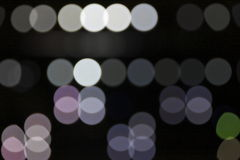 Bright lighting spots sparkling. Some bright blur lighting spots from spotlights Royalty Free Stock Images