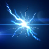 Bright lightning flash Stock Images