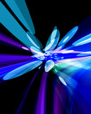 Bright Lights. Abstract background of bright colorful holiday lights in blue and purple on black Royalty Free Stock Photo