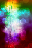 Bright lights. Bokeh effect with lights and blocks of colour Stock Images