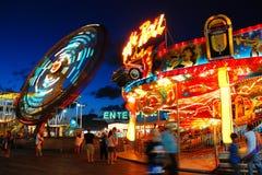 Bright lights of an amusement park Royalty Free Stock Photos