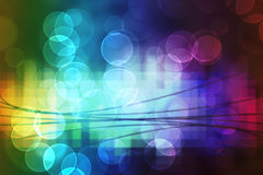 Bright lights background. Bright lights bokeh effect on a background of lights and blocks of colour Royalty Free Stock Photos