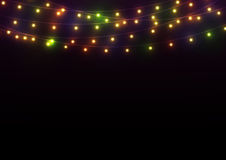 Bright Lights Background. Abstract dark background with bright glowing lights Royalty Free Stock Images