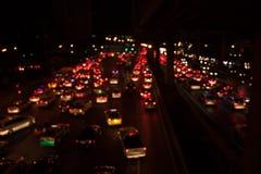 Bright lights big city scene stock image