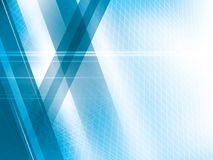 Bright lights on blue abstract background vector. With stripes shapes Royalty Free Stock Images