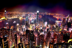 Bright lights on the city Royalty Free Stock Images