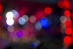 Lights at the concert at night, blurred background, image out of focus. Bright lights at the concert at night, blurred background, image out of focus stock photos