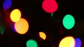 Bright lights flashing lights blurred with blur effect stock video