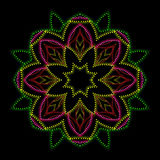 Bright lights floral mandala Royalty Free Stock Photo