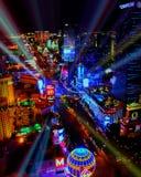 Bright Lights of Las Vegas, NV. Royalty Free Stock Photos