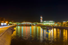 Bright lights of Moscow Royalty Free Stock Images