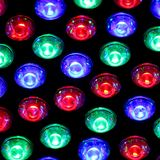 Bright lights of a nightclub with bulbs Royalty Free Stock Photo