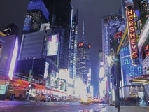 Bright Lights in Times Square, New York. Royalty Free Stock Photos