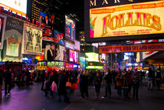 Bright Lights of Times Square, NYC Royalty Free Stock Images