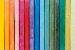 Line of vertical oil pastels Royalty Free Stock Photo