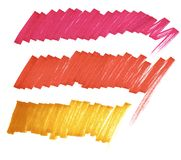 Bright lines marker. Crimson, red, orange. stock illustration