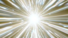 Dynamic light tunnel. Bright lines quickly move away from us. Looped. Bright lines are moving away from us. Lines of light form a dynamic bright tunnel in space