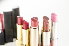 Bright lipsticks isolated on white background Royalty Free Stock Images