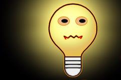 Bright Little Light Bulb. One bright smiling little light bulb royalty free illustration