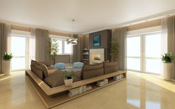 Bright Living Area Royalty Free Stock Image