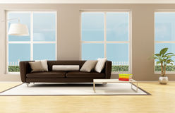 Bright living room Stock Image
