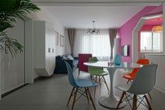 Bright living room Stock Photos