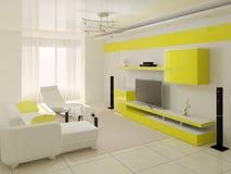 Bright living room . Stock Photo