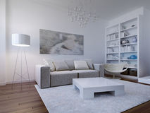 Bright living room design Royalty Free Stock Image