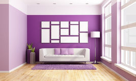 Bright living room Stock Photos