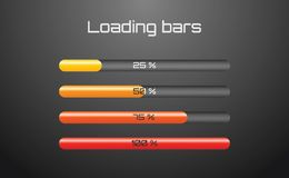 Bright loading bars Stock Photography