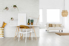 Bright loft apartment Royalty Free Stock Image
